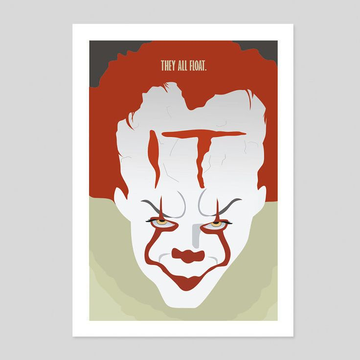 Stephen Kings IT Pennywise Clown Movie Horror Poster New 180gm A1-3 2017 Scary 3 in Art, Posters, Contemporary (1980-Now) | eBay!