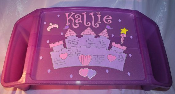 Kids Lap Tray - Princess- Hand Painted and Personalized on Etsy, $22.00