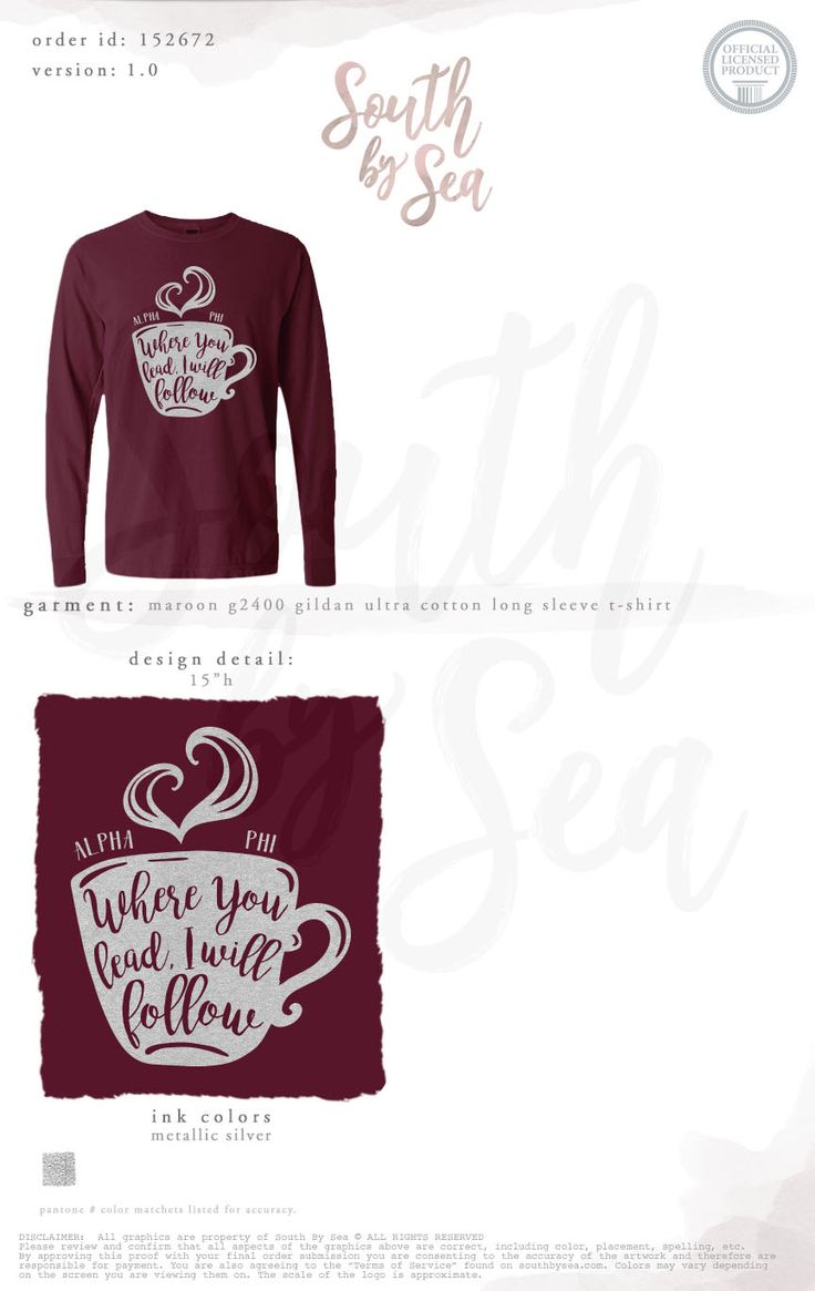 Alpha Phi | Where You Lead I Will Follow | Quotes | Coffee | Sisterhood | South by Sea | Greek Tee Shirts | Greek Tank Tops | Custom Apparel Design | Custom Greek Apparel | Sorority Tee Shirts | Sorority Tanks | Sorority Shirt Designs