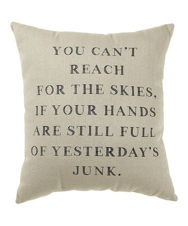 Take a look at this 'Yesterday's Junk' Pillow by Collins on #zulily today!