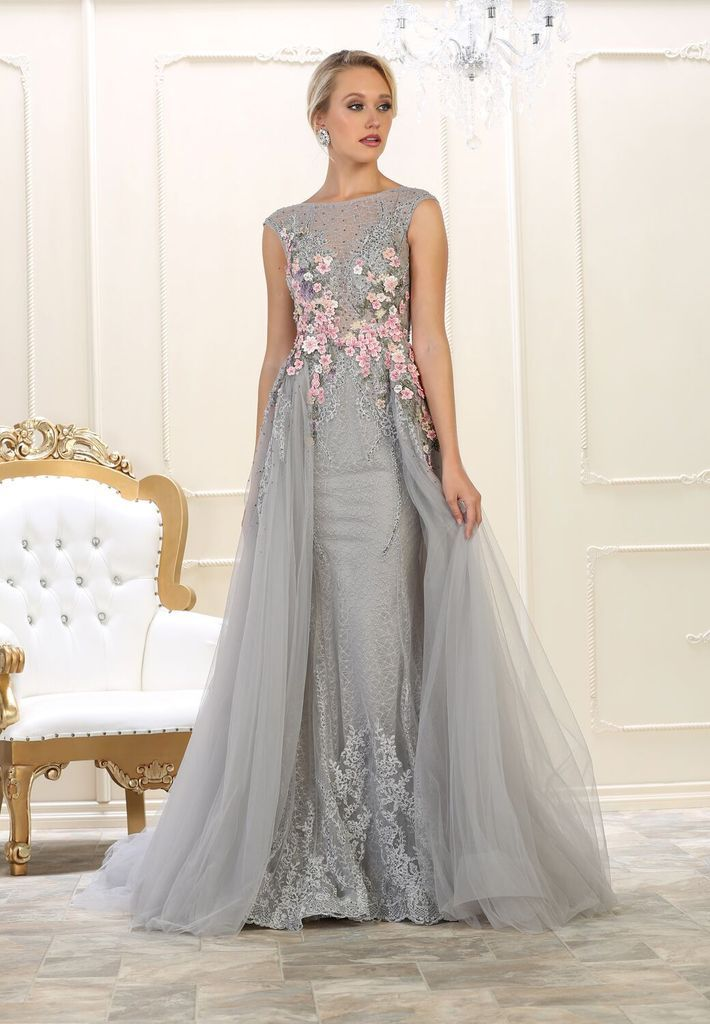 Prom Silver Dress Formal Plus Size Evening Couture Long Ball Gown Plus Size Formal Dresses Prom Dresses For Sale Formal Dresses