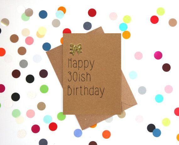 Grappige 30 verjaardagskaart, 30e verjaardagskaart, grappige verjaardagskaart, 30ste verjaardag, grappige card, verjaardagskaart: 30 ish Gefeliciteerd