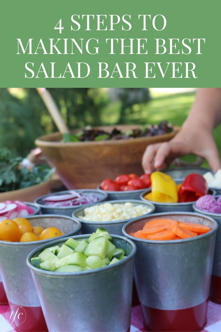 4 Steps To Making The Best Salad Bar Ever | Healthy Lunch Recipe | Healthy Dinner Recipe | Easy Party Food |