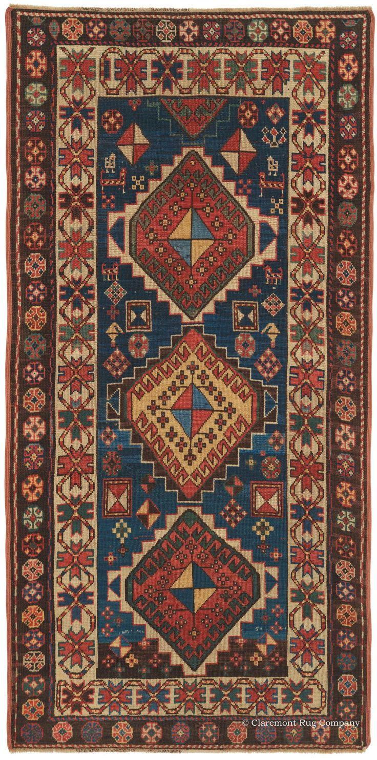Superior Offering A Uniquely Confident Expression, This Breathtaking Caucasian Kazak  Antique Carpet Reveals With Tremendous Vitality