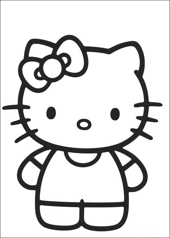 Simple Hello Kitty Coloring Pages