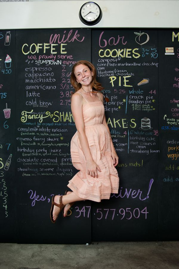 The sweetest artist ever: Christina Tosi, who bakes cakes and blends shakes for Momfuku Milk Bar. Via Refinery29