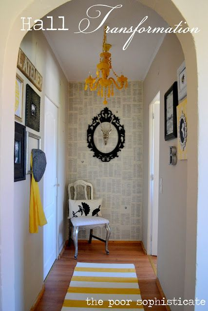 the poor sophisticate: DIY Epic $2 Removable Wallpaper and Paste. This is an awesome idea. Could be done with second hand books in my hallway or as a feature wall behind a desk or bed.