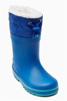Fleece Lined Wellies (Younger Boys) (743422) | £14 - £16