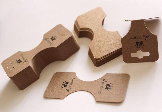 50 piezas de colgante collar de cola de caballo la impresión tarjeta de la exhibición para accesorios y la joyería (diseño impreso)