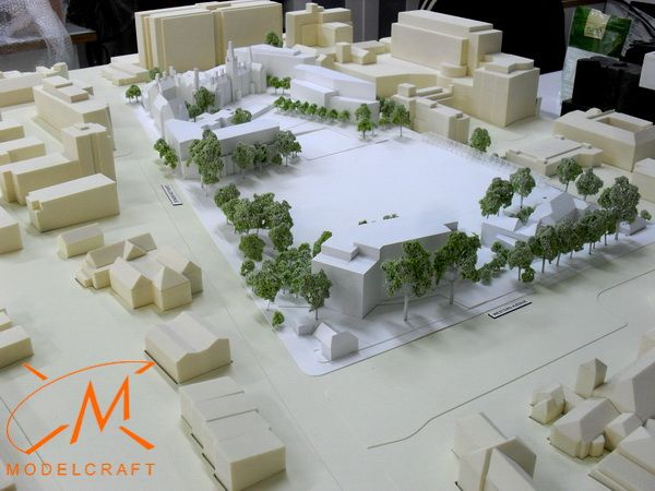 1:500 White Architectural Model by Modelcraft (NSW) Pty Ltd - 13019