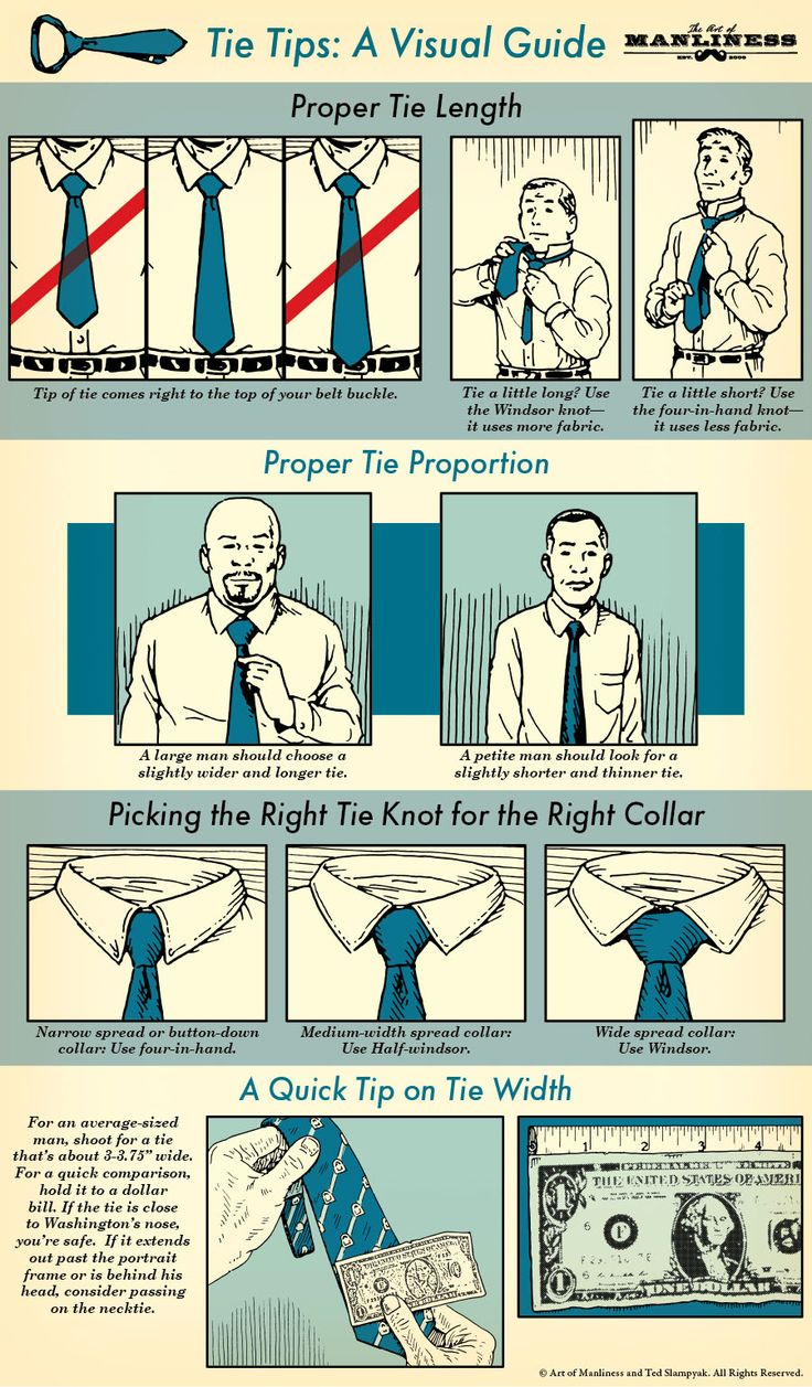 Tie Tips: A Visual Guide  #style #mensstyle
