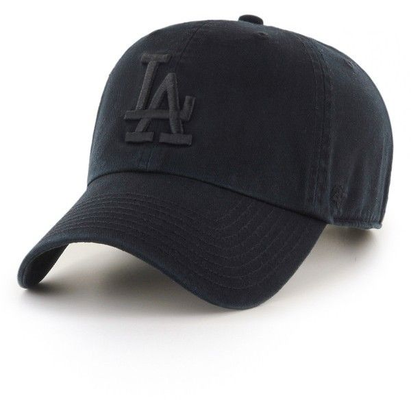 Women's '47 Clean Up La Dodgers Baseball Cap (£19) ❤ liked on Polyvore featuring accessories, hats, black, baseball cap, los angeles dodgers hats, la dodgers hat, '47 brand and 47 brand hats