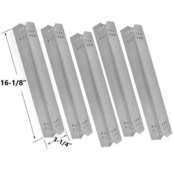 5 PACK STAINLESS STEEL REPLACEMENT HEAT PLATE FOR KITCHENAID, JENN AIR GAS GRILL MODELS Fits Compatible KitchenAid Models : 720-0336D, 720-0709C, 720-0727, 720-0733, 720-0733A, 720-0745, 720-0745A, 720-0826, 720-0893, 730-0336D