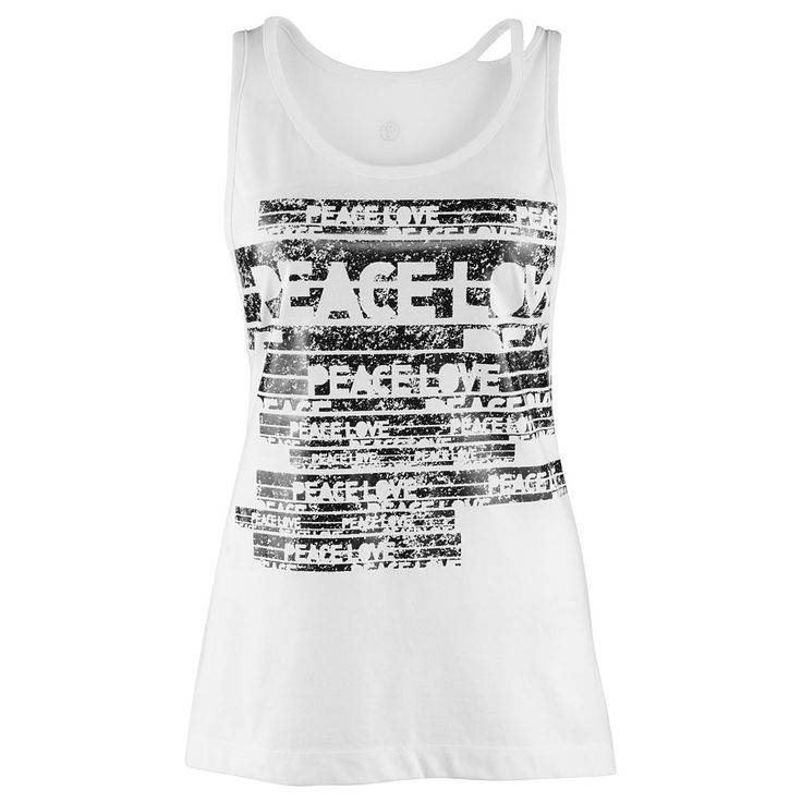 Peace, Love-N-Loose Tank - White