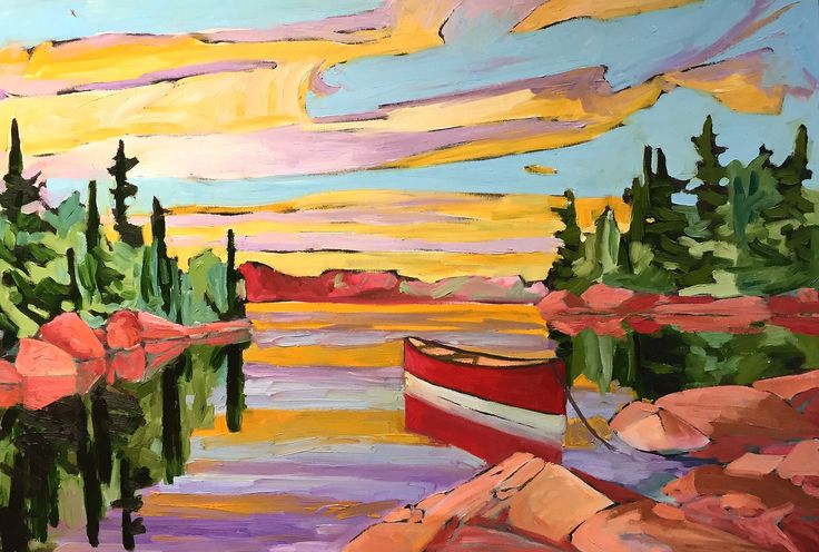 Out on the Lake by David Casey. Ottawa artist, Canadian artist, landscape art, SANTINI GALLERY.