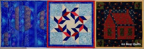 """Summer quilts in the 12 times 12"""" by 12"""" series"""
