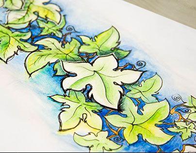 "Check out new work on my @Behance portfolio: ""Эскиз татуировки. Плющ."" http://be.net/gallery/36115223/eskiz-tatuirovki-pljusch"