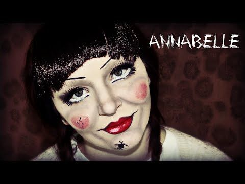 ANNABELLE Makeup Tutorial - The Conjuring Doll - YouTube