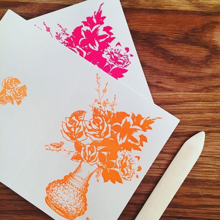 Neon Letterpress Cards by Studio Sabina W Gustrin.