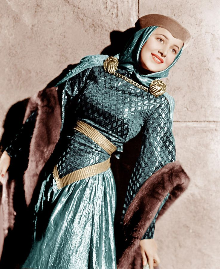 The Adventures Of Robin Hood, Olivia De Havilland wearing Joseff Hollywood Jewelry