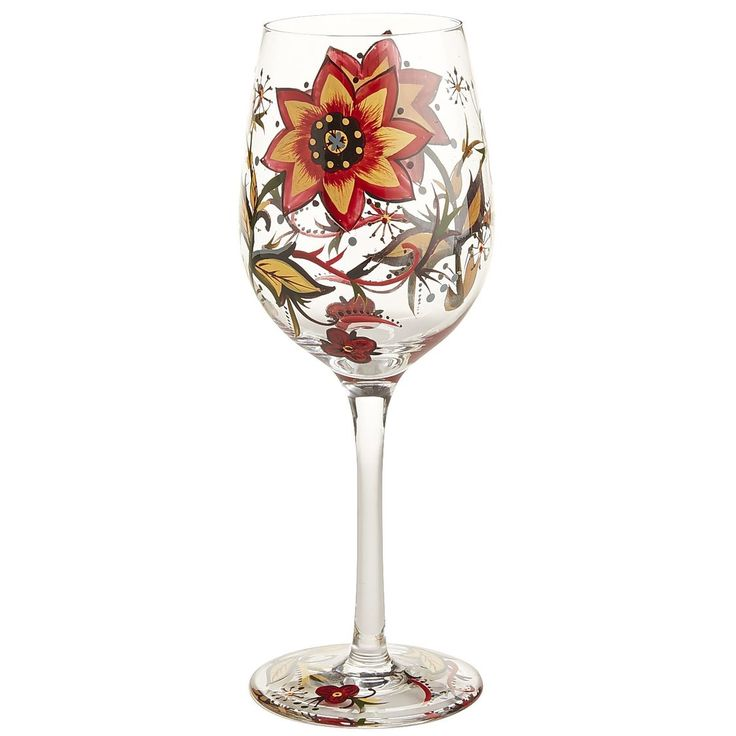 Carynthum Painted Glass Goblet | Pier 1 Imports