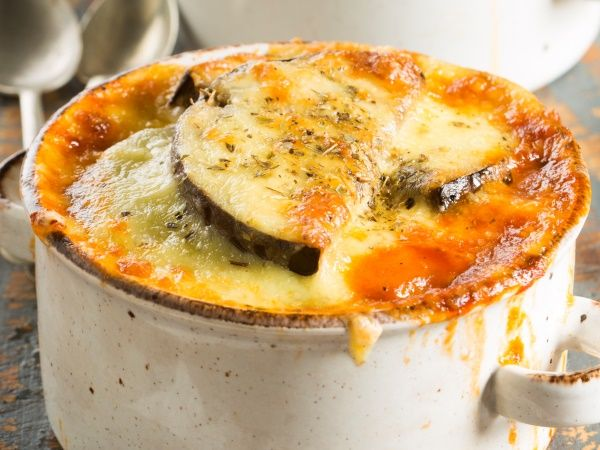 Aubergine cheese bake • This simple vegetarian cheese and layered vegetable bake could rival moussaka.