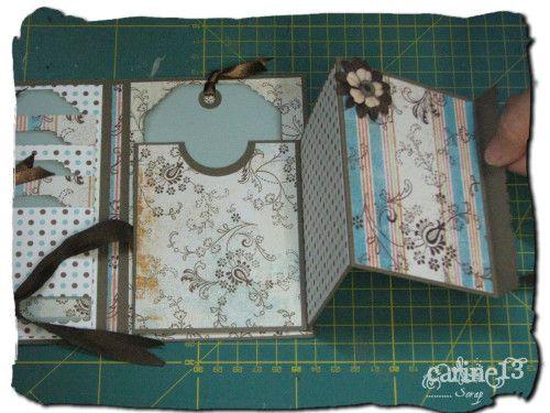 Mini album photos  tuto très détaillé http://carine13.over-blog.com/article-tuto-mini-album-plie-68426075.html