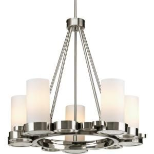 Progress Lighting Bingo Collection 5-Light Brushed Nickel Chandelier-P4647-09 at The Home Depot