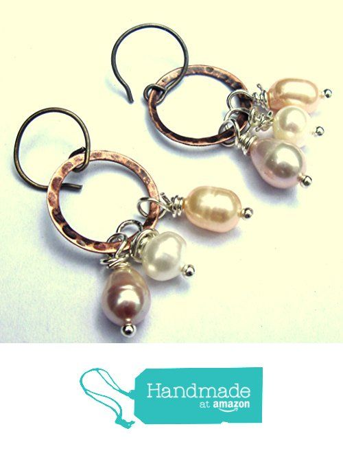Freshwater Pearl and Copper Wire Wrapped Dangle Earrings from Gimme That Thing https://www.amazon.co.uk/dp/B07467KB1H/ref=hnd_sw_r_pi_dp_LFqDzbAYCCWWS #handmadeatamazon
