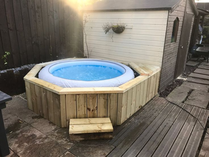 Image Result For Inflatable Hot Tub Steps Hot Tub Surround
