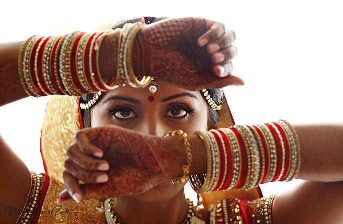 Bridal portrait from Hindu wedding ceremony at Moon Palace Cancun #destinationwedding