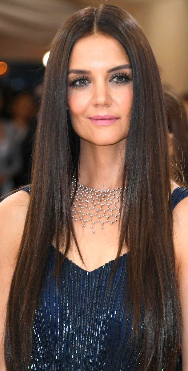Katie Holmes Extra Long Straight Hair Style HAIR STYLES