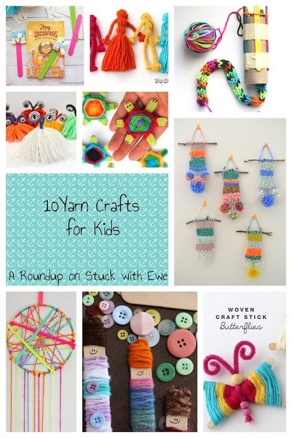 10 Yarn Crafts For Kids Crafty Kids Pinterest Yarn Crafts For