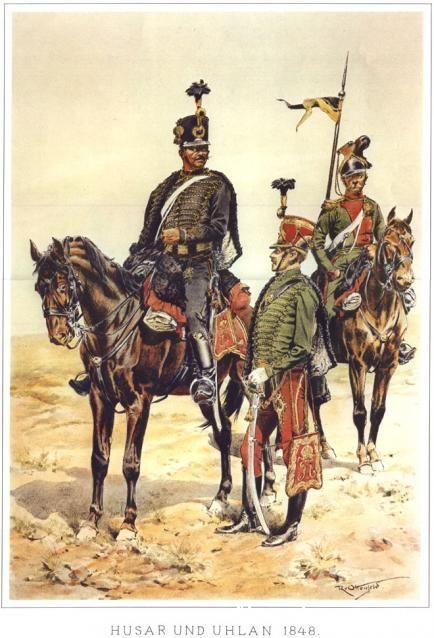 Hussar and Uhlan, 1848