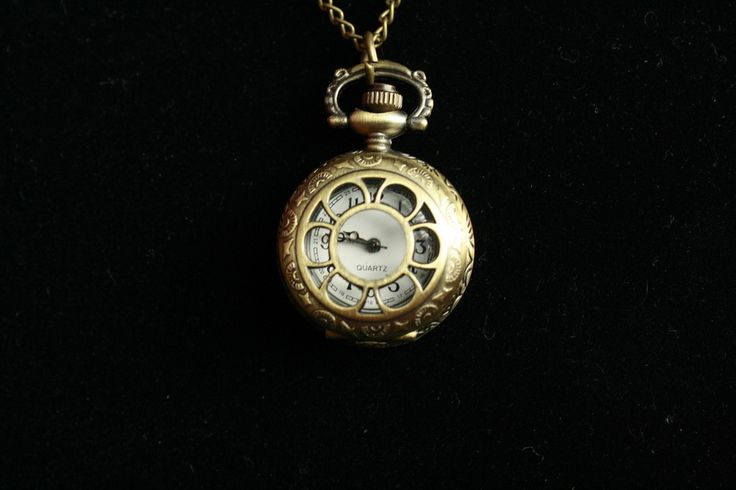Lovely Little Pocket Watch - The Flower #bronze #gold #jewelry #necklace #pendant #pretty #steampunk #summer #vintage  40% off orders over $50.  Free shipping and handling orders of $25 or more.  #Christmas #Present  www.ceesquared.ca