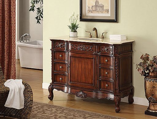 English Rose Antique Bathroom Vanity NL6275M by New Legend Collection