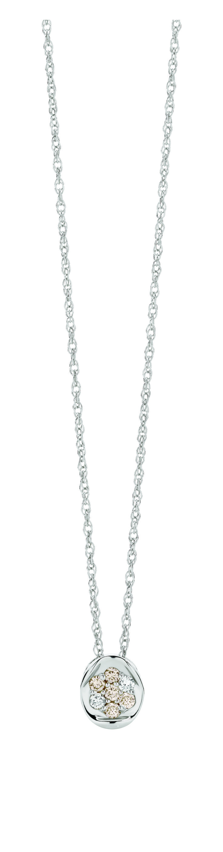 Dreamtime 9ct White Gold 0.15ct Diamond Pendant available only at Showcase Jewellers.