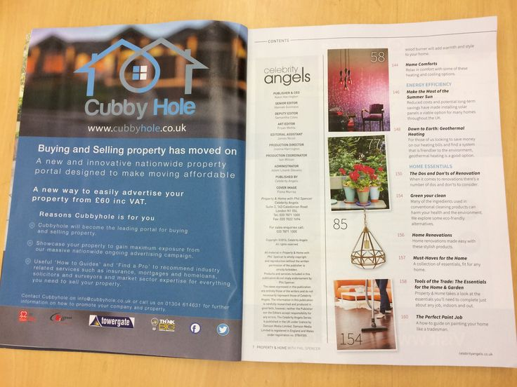 Here is our advert in Phil Spencer's magazine