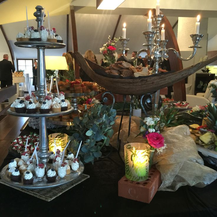 Canapés buffet on the wedding