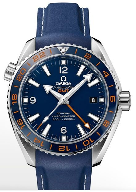 Omega Seamaster Planet Ocean GMT Watch on Rubber