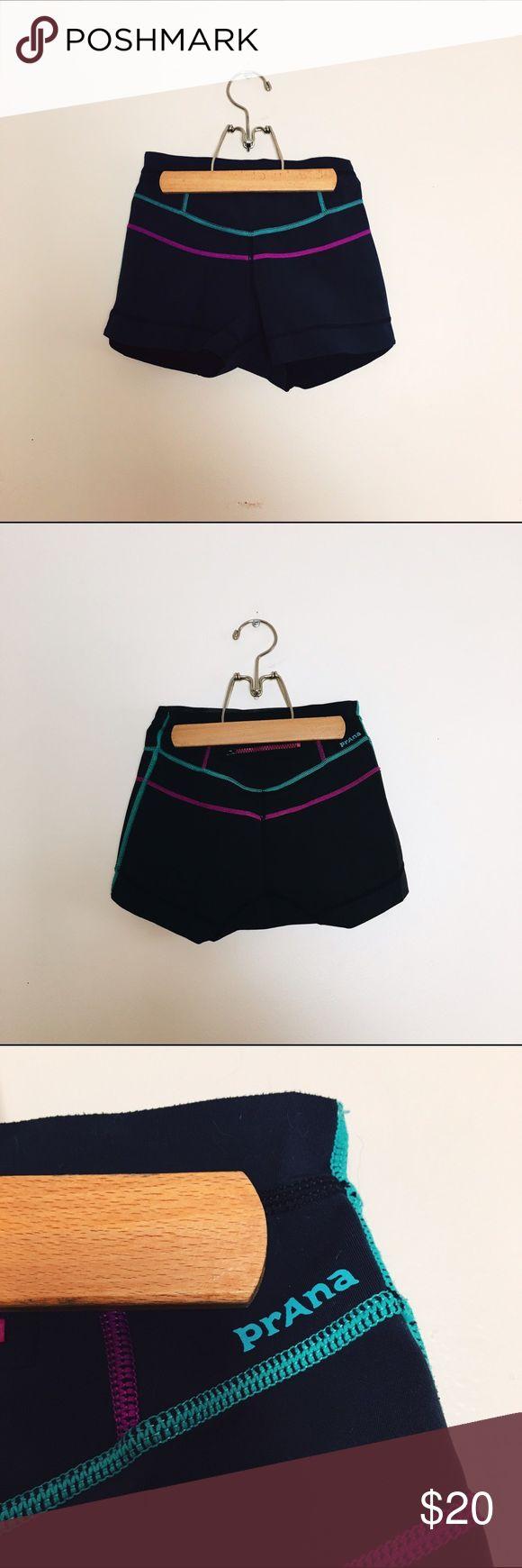 PrAna hydra short High-waist surf short, neoprene skin at interior waistband for extra grip, raw edging, 55% recycled polyester / 40% neoprene / 5% spandex Prana Shorts