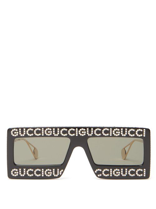 929f122715 GUCCI GUCCI - HOLLYWOOD FOREVER EMBELLISHED SUNGLASSES - MENS ...