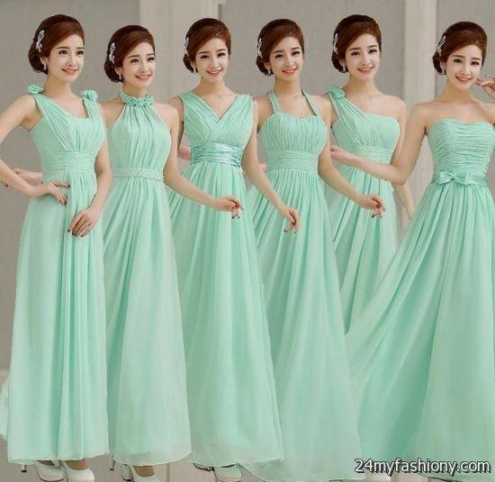 Pistachio colored bridesmaid dress