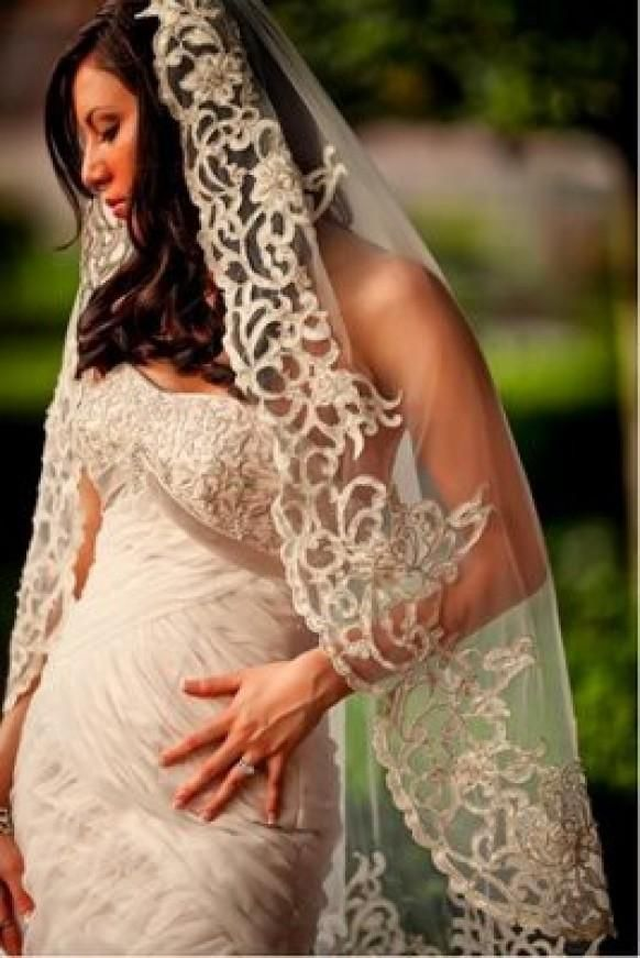 Vintage Wedding Veil Mantilla