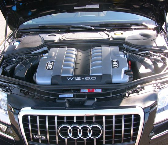 Audi w12 a8l double head v12 engine