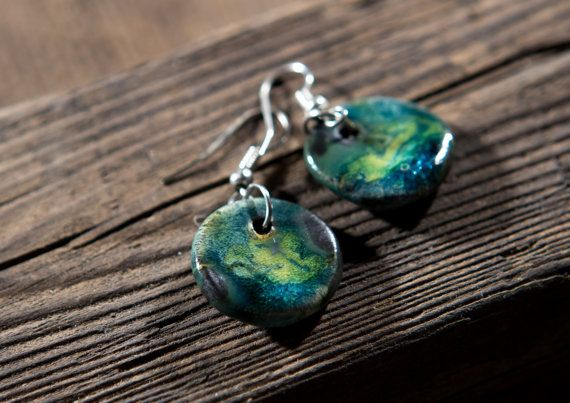 colourfull lake- earings