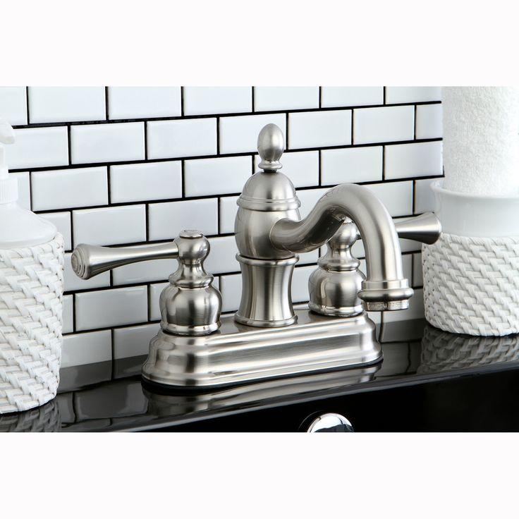 victorian spout satin nickel bathroom faucet by kingston brass