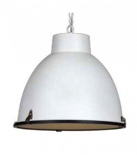 #Hangar #industriële #hanglamp  wit mat 42cm. http://www.globalfurniture.nl/verlichting-lampen-lamps-leuchte/Hanglampen-hangeleuchte/hangar-hanglamp-industrieel-wit