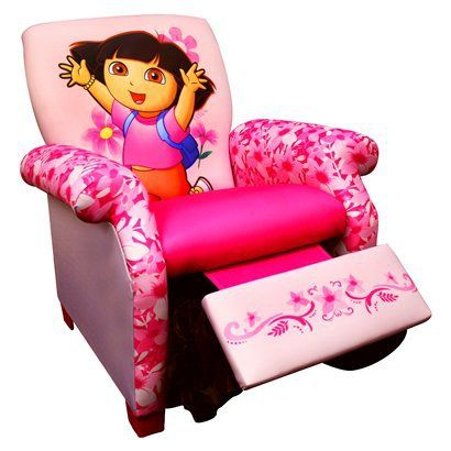 Nickelodeon Dora Kids Recliner Chair Baby Girl Loves Dora