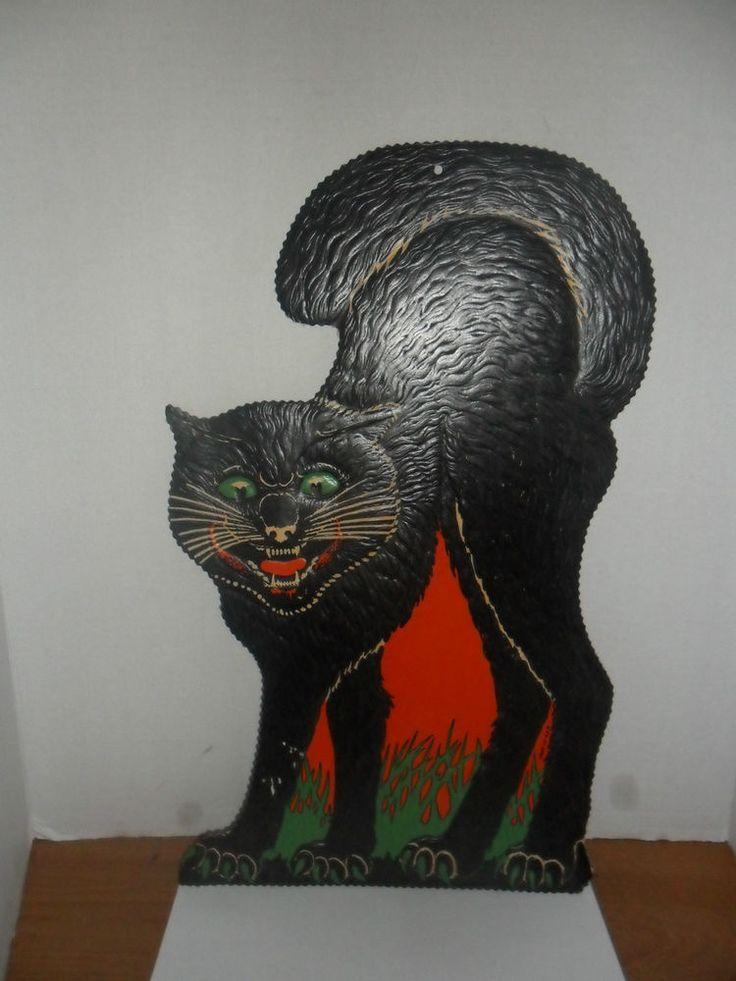 Cardboard Halloween Black Cat